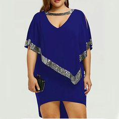 : Plus Size Sparkly Capelet Dress bodycon dress bodycon dress outfit bodycon dress formal bodycon dress casual bodycon dress homecoming bodycondress bodycondressoutfit bodycondressformal bodycondresscasual bodycondresshomecoming fashion streetstyle sty Mini Dress With Sleeves, Half Sleeves, The Dress, Casual Work Dresses, Dresses For Work, Bodycon Dress Formal, Capelet Dress, Dress Lace, Instyle Fashion