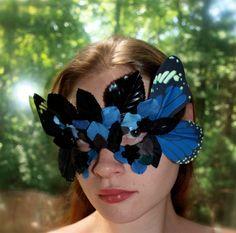 Blue fairy / butterfly wing greenman mask.