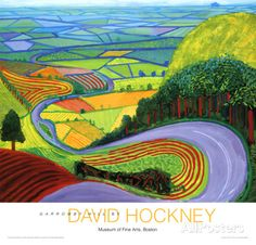 Colina Garrowby Lámina por David Hockney en AllPosters.es