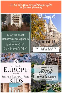 10 of the Most Breathtaking Sights in Bavaria, Germany Bavaria Germany, Central Europe, European Travel, Germany Travel, Alps, Budapest, Castles, Travel Destinations, City