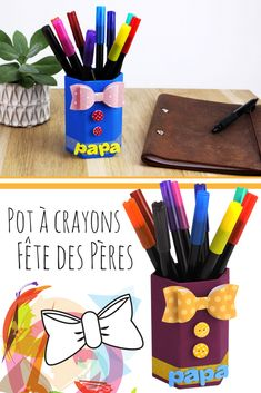 Pot A Crayon, Fathers Day Crafts, Crayons, Crafts For Kids, Club, Preschool, Father's Day, Gifts, Posters
