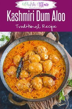 Kashmiri Dum Aloo is a very famous Kashmiri recipe made using baby potatoes simmered in a yogurt based gravy flavored with dry ginger powder and fennel. Here is how to make Kashmiri Dum Aloo Recipe in traditional Kashmiri Style. Aloo Recipes, Easy Soup Recipes, Curry Recipes, Healthy Recipes, Chicken Recipes, Cooking Recipes, Kashmiri Recipes, Indian Veg Recipes, Gourmet