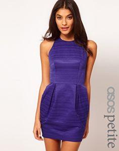 ASOS PETITE Exclusive Tulip Dress With Textured Stripe
