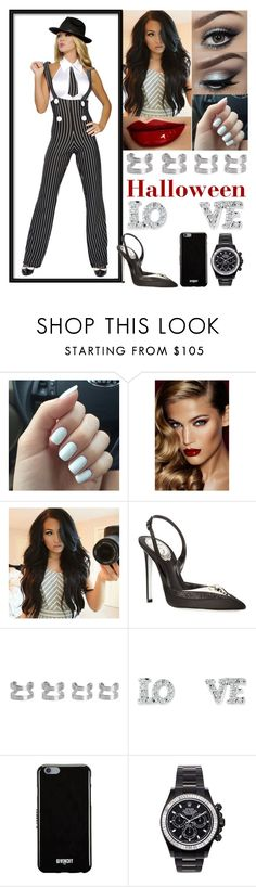 """""""Halloween"""" by jessicagrewal ❤ liked on Polyvore featuring Urban Decay, Charlotte Tilbury, René Caovilla, Maison Margiela, Givenchy and Mad Collections"""