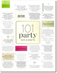 101 Party Dos & Don'ts More