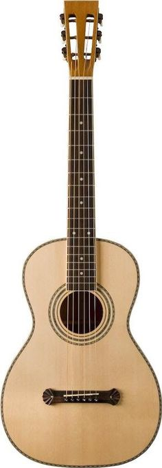 Oscar Schmidt O315. This acoustic guitar is inspired by the parlor guitars that the company built in the 1920's, featuring elaborate cosmetics and traditional tonewood combination that is affordably priced.