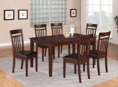 7PC CAPRI DINING SET WITH LEATHER SEATS AT http://stores.ebay.com/Dining-Furniture
