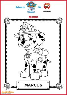 Qui est Marcus de la Pat'Patrouille ? Marcus est un jeu dalmatien. Sa spécialité, stopper le feu ! En effet, Marcus est le pompier de la Pat'Patrouille. Retrouve tous les coloriages de Marcus de la Pat'Patrouille sur TFou.fr Fall Coloring Pages, Disney Coloring Pages, Animal Coloring Pages, Coloring For Kids, Adult Coloring Pages, Coloring Books, Paw Patrol Party, Paw Patrol Birthday, Paw Patrol Cartoon