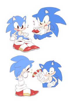 Modern sonic and Classic sonic (idk who made this)