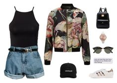 """// s o r r y //"" by theonlynewgirl ❤ liked on Polyvore featuring Miss Selfridge, adidas Originals, NLY Trend, Retrò, Olivia Burton and Ray-Ban"