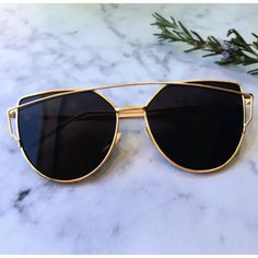 Sale! Cat Eye Aviator Sunglasses. This listing is for a pair of Cat Eye aviator sunshades. Black Mirrored Sunglasses. Retro. Sunglasses. Wire sunglasses. Trending sunglasses. UV protection. Top qualit