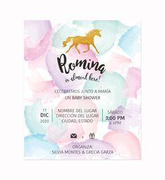 Invitación Baby Shower Unicornio Pastel para tu evento - Oh! Yupi Yei