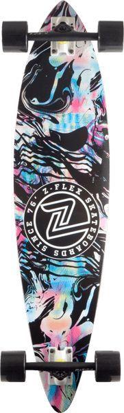 Z-Flex Acid Swirl Black Pintail Complete