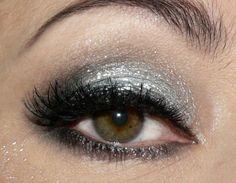 post from makeup geek::silver/black