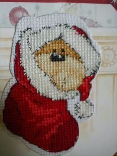 Pinner Loren made this adorable Christmas card of Fizzy Moon - we recognise him from back in our issue 194 of The World of Cross Stitching magazine ;)