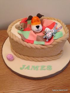 Kipper The Dog Birthday Cake - http://www.cakebysadiesmith.co.uk/celebration-cakes/kipper-dog-birthday-cake/