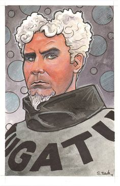 @Sarah Scott, I want to buy one for me and one for you!!! Mugatu Watercolor by ScottChristianSava on Etsy, $75.00