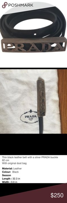 Prada belt Prada skinny belt. Prada Accessories Belts