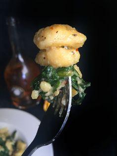 Super Easy 5-Ingredient Homemade Frascatelli Pasta with Mustard Greens & Parmesan Cheese (Vegetarian or Vegan)