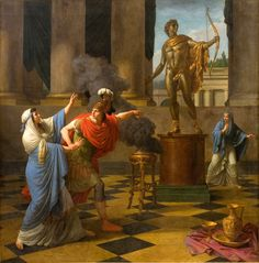 Alexander Consulting the Oracle of Apollo,Louis-Jean-François Lagrenée, 1789Happy Alexander the Great's birthday!