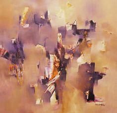 """""""El momento del Despertar"""" - Sonia Kusznir - Oleo sobre tela - 100 x 100 cm  www.esencialismo.com"""