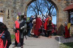 auf dem grossen Mittelalterfest rund um die Burg Steinsberg