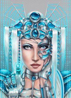 The Cyberqueen by Nymonyrya.deviantart.com on @deviantART