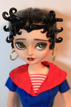 RESERVED for UniqueBabyLady BETTY BOOP Custom by Refabrications