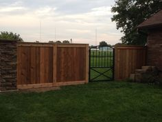 updated Gate & now fence / columns project