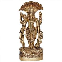 Amazon.com: Statues and Sculptures Vishnu Brass Figurines Sculpture Hindu 2.5 X 15 X 5.75 Inches: Home & Kitchen
