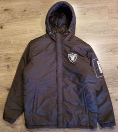 bdfe1f15d Oakland Raiders G-III Mens Sz L Hooded Jacket Zip Black Quilted Coat NFL  NWOT