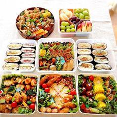 Pin by saya on あ Cute Food, I Love Food, Yummy Food, Food To Go, Food And Drink, Bento Kids, Japanese Food Art, Sushi Recipes, Food Trays