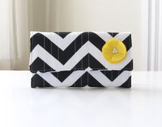 Chevron Trifold Wallet Black and white. You can never have enough chevron.