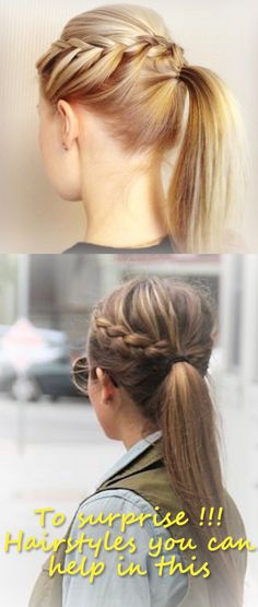 To surprise !!! Hairstyles you can help in this …