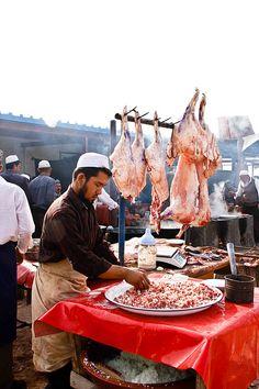 Livestock Market in Kashgar, Xinjiang Province, China