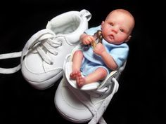 A baby in a shoe!