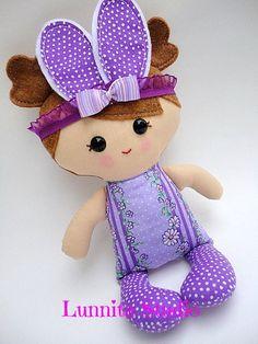 Handmade cloth doll...Easter, ragdoll, fabric doll, bunny ears, Eco-Friendly Doll... READY TO SHIP