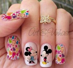 Rainbow Nails, Neon Nails, Dope Nails, Swag Nails, Square Nail Designs, Nail Art Designs, Disneyland Nails, Ruby Nails, Mickey Mouse Nails