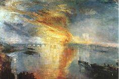 """Joseph Mallord William Turner: """"El incendio de la Cámara de los Lores"""""""