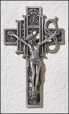 "6"" Metal IHS Wall Crucifix Cross Jesus Christ Christian Catholic Home Decor by Autom, http://www.amazon.com/dp/B007H8HD12/ref=cm_sw_r_pi_dp_BhEDpb1TQM6ZP"