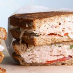 Turkey & Tomato Panini  285 calories  A savory hot sandwich that will quickly become a go-to mealtime solution.