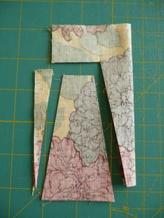 "Bloom: How to cut Dresden plate wedges from 5"" charm squares. 3 blades from a charm square."