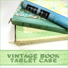 Protect your investment in more ways than one with a Vintage Book Tablet Case {Video Tutorial}