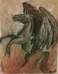 Pegasus Drawing from me Pegasus, My Arts, Drawings, Animals, Animales, Animaux, Sketches, Animal, Drawing