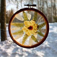How To Make Pressed Flower Suncatchers | AllFreeKidsCrafts.com