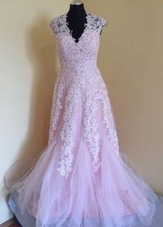 Kup mój przedmiot na #vintedpl http://www.vinted.pl/damska-odziez/dlugie-sukienki/16551855-skunia-slubna-pudrowa