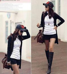 New Fashion Women's Jacket Long-Sleeve Dress Spring Autumn Clothing Black S-XXXL