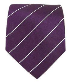 Pencil Pinstripe - Deep Plum/White | The Tie Bar
