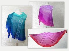 Morning dew is a wonderful lacy shawl ihttps://www.crazypatterns.net/en/items/33593/crochet-pattern-shawl-lace-shawl-wrap-morning-dew