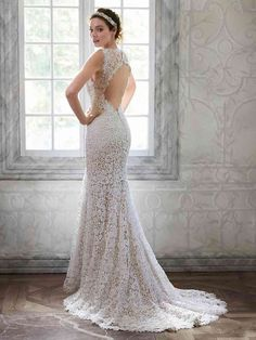 Discover the Maggie Sottero Breanna Bridal Gown. Find exceptional Maggie Sottero Bridal Gowns at The Wedding Shoppe Lace Back Wedding Dress, Maggie Sottero Wedding Dresses, Wedding Dress Sizes, Perfect Wedding Dress, Lace Wedding, Perfect Bride, Wedding Gowns, Dress Lace, A Line Bridal Gowns